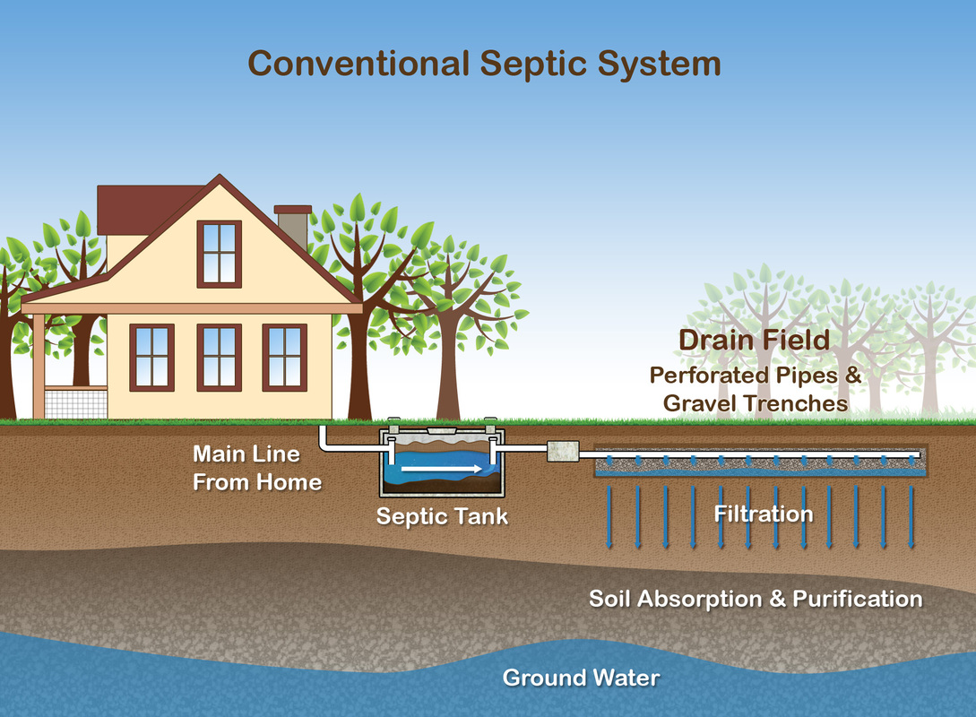 Gravity septic field for Gravity septic system